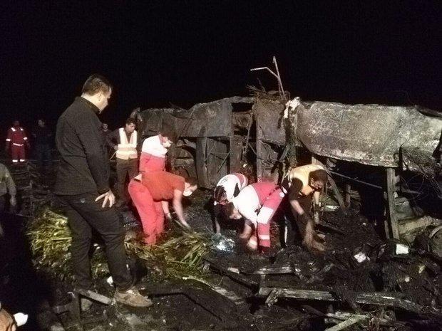 7 نفر از مصدومان حادثه اتوبوس تهران-کرمان ترخیص شدند