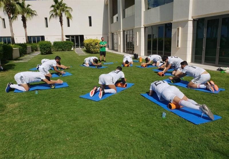 برگزاری تمرین ریکاوری ملی پوشان در هتل